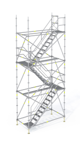 Escaleras y accesos temporales